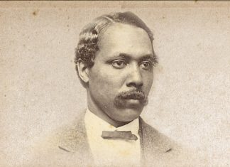 A historical etching shows Ebenezer Bassett at the time of his nomination to minister resident.Image courtesy of Harper's Weekly, May 1, 1869.