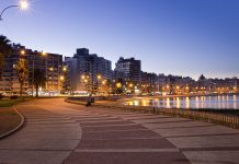 The Rambla of Montevideo is an avenue that goes all along the coastline of Montevideo, Uruguay, and also the longest continuous sidewalk in the world. At a length of over 22.2 uninterrupted kilometres, the promenade runs along the Río de la Plata and continues down the entire coast of Montevideo. Photo by Alejo Vazquez Young