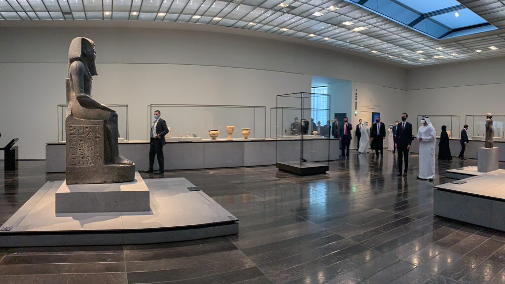 Jared Kushner and delegation receive a VIP after-hours tour of the Louvre Abu Dhabi, Aug. 31. Photo courtesy of the Louvre Abu Dhabi