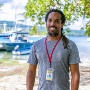 Inilek Wilmot, Oracabessa Bay Fish Sanctuary's general manager, is a marine biologist who helps to protect Oracabessa's marine ecosystem. Photo courtesy of Talk Up Your Media for United Nations Development Programme