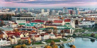 A panoramic view of the historical center of Minsk. Photo by karp5