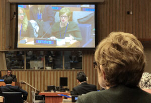 Acting Coordinator Michele Markoff advocates the U.S. position at 2019 United Nations negotiations on cybersecurity in the context of international security. Photo by Sheila Flynn