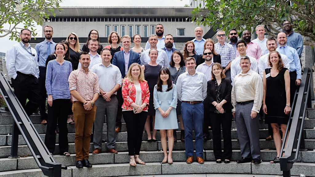 The Office of the Coordinator for Cyber Issues (S/CCI) joined the Bureau of East Asian and Pacific Affairs and Bureau of South and Central Asian Affairs to lead regional cyber policy training for more than 20 cyber officers at Embassy Singapore, March 2019. Photo by Jerrod Hansen