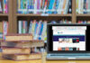 The library's OverDrive service connects Department of State personnel with the newest eBooks on international relations, all downloadable to personal devices. Illustration by State Magazine
