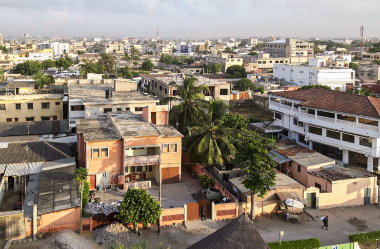 An aerial view shows the city of Lomé, Togo. Photo by The EITI